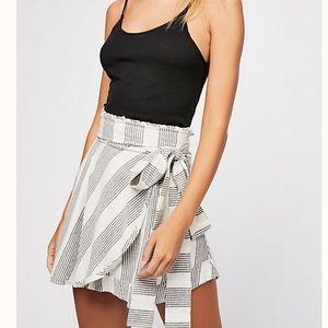 Free People Striped Valencia Skort Shorts Small